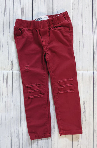 Distressed Color Jeggings (Several Colors)