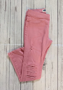 Youth Girls Distressed Color Jeggings (Several Colors)