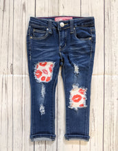 Load image into Gallery viewer, Love Lips Valentines Jeans