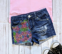 Load image into Gallery viewer, Lisa Frank Leopard Print Jeans & Shorts