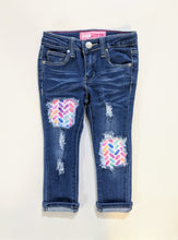 Load image into Gallery viewer, Rainbow Herringbone Jeans & Shorts