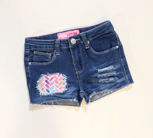 Rainbow Herringbone Jeans & Shorts