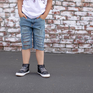 Boys Distressed Shorts