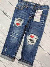 Load image into Gallery viewer, Stud Valentine's Jeans