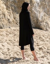 Load image into Gallery viewer, Hooded Bamboo Duster with Long Sleeves