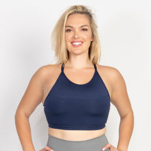 Load image into Gallery viewer, Yoga Bra Double Strap Halter Top