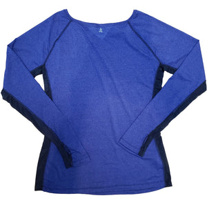 Long Sleeve Boat Neck T-Shirt with Net