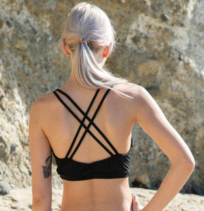 Yoga Bra Halter Top with Net