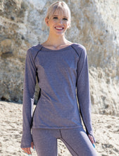 Load image into Gallery viewer, Long Sleeve Boat Neck T-Shirt with Net