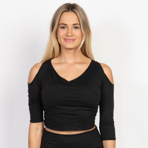 Simple Wrap Crop Top