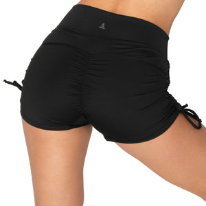 Yoga Short High Waist Drawstring with Scrunch Back