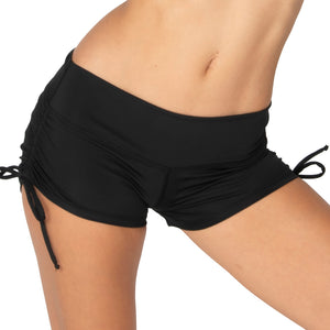 Yoga Short Mid Waist Drawstring with Scrunch Back