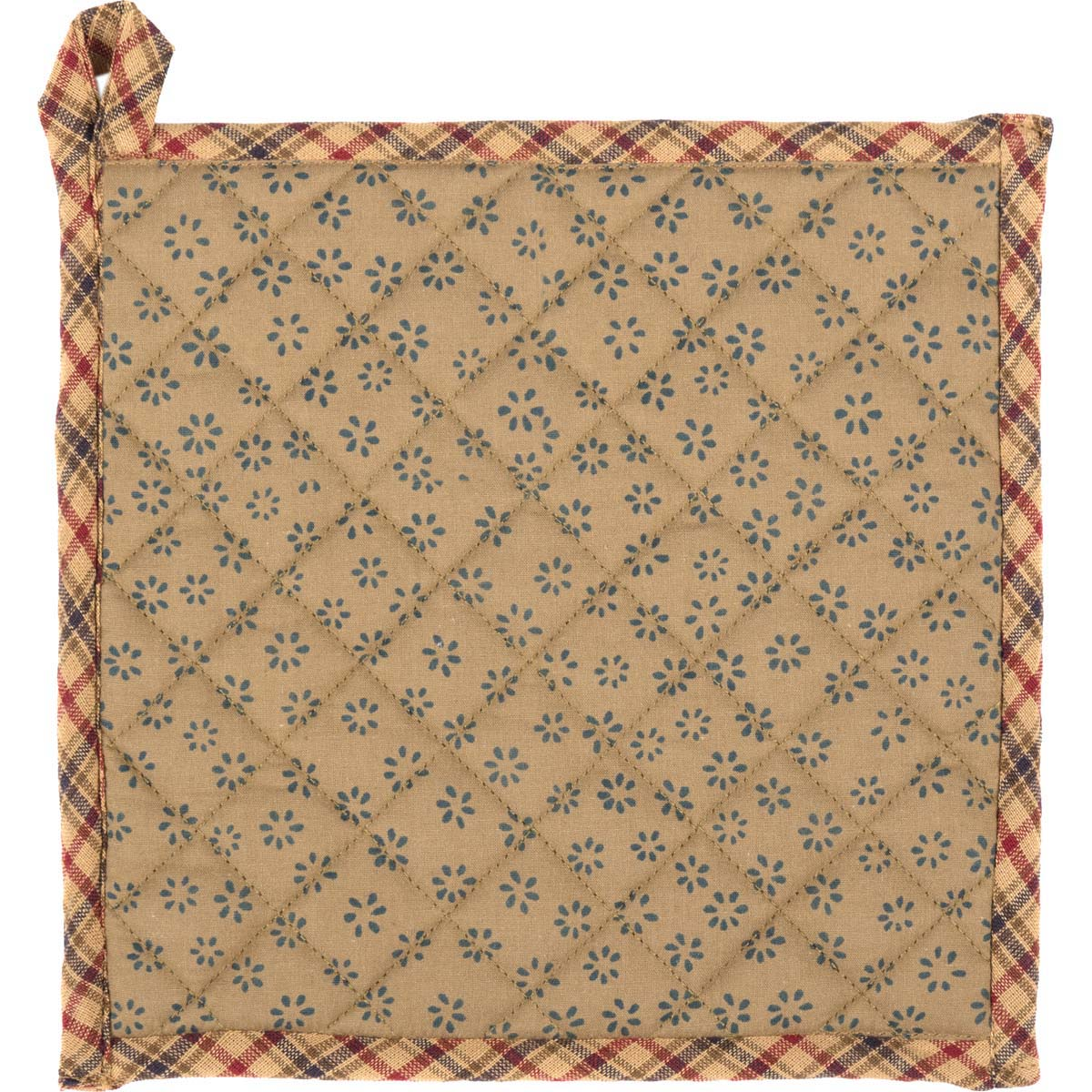 Arlington Pot Holder with Pocket & Patchwork Star 8x8 - Woodrol