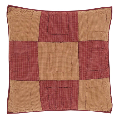 Ninepatch Star Quilted Euro Sham 26x26 - Woodrol