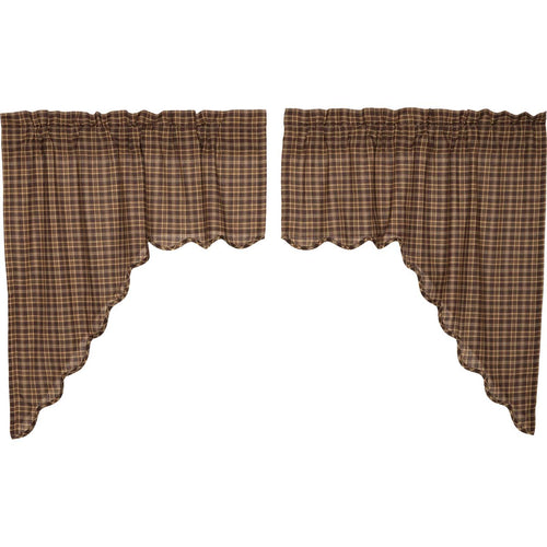 Prescott Swag Scalloped Set of 2 36x36x16 - Woodrol