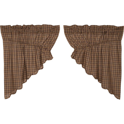 Prescott Prairie Swag Scalloped Set of 2 36x36x18 - Woodrol