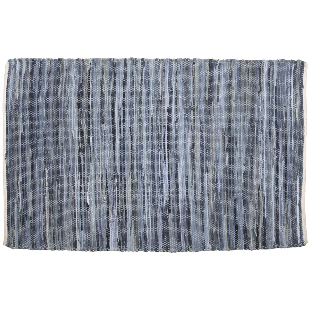 Denim & Hemp Chindi-Rag Rug Rect 48x72 - Woodrol