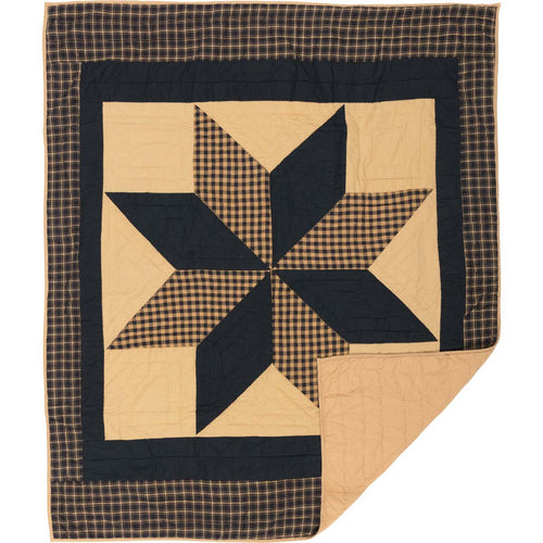 Dakota Star Quilted Throw 60x50 - Woodrol
