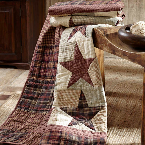 Abilene Star Quilted Throw 70x55 - Woodrol
