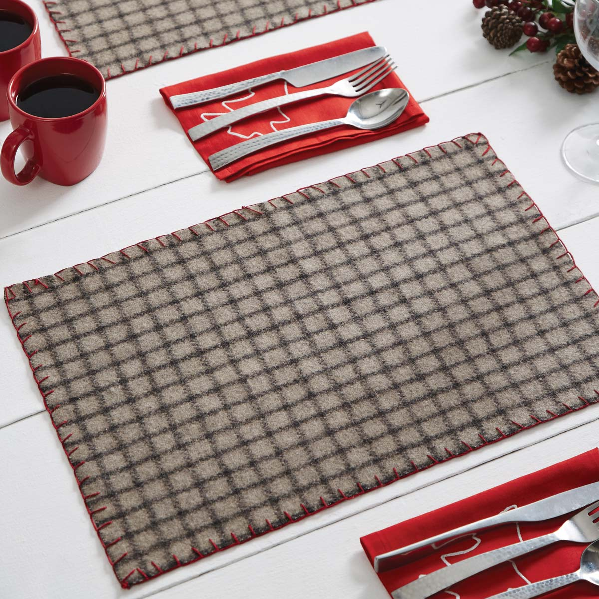 Weston Placemat Set of 6 12x18 - Woodrol