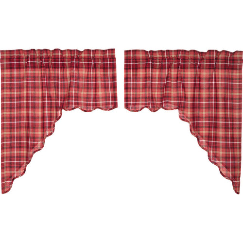Braxton Scalloped Swag Set of 2 36x36x16 - Woodrol
