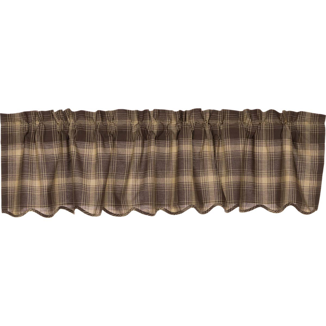 Dawson Star Scalloped Valance 16x72 - Woodrol