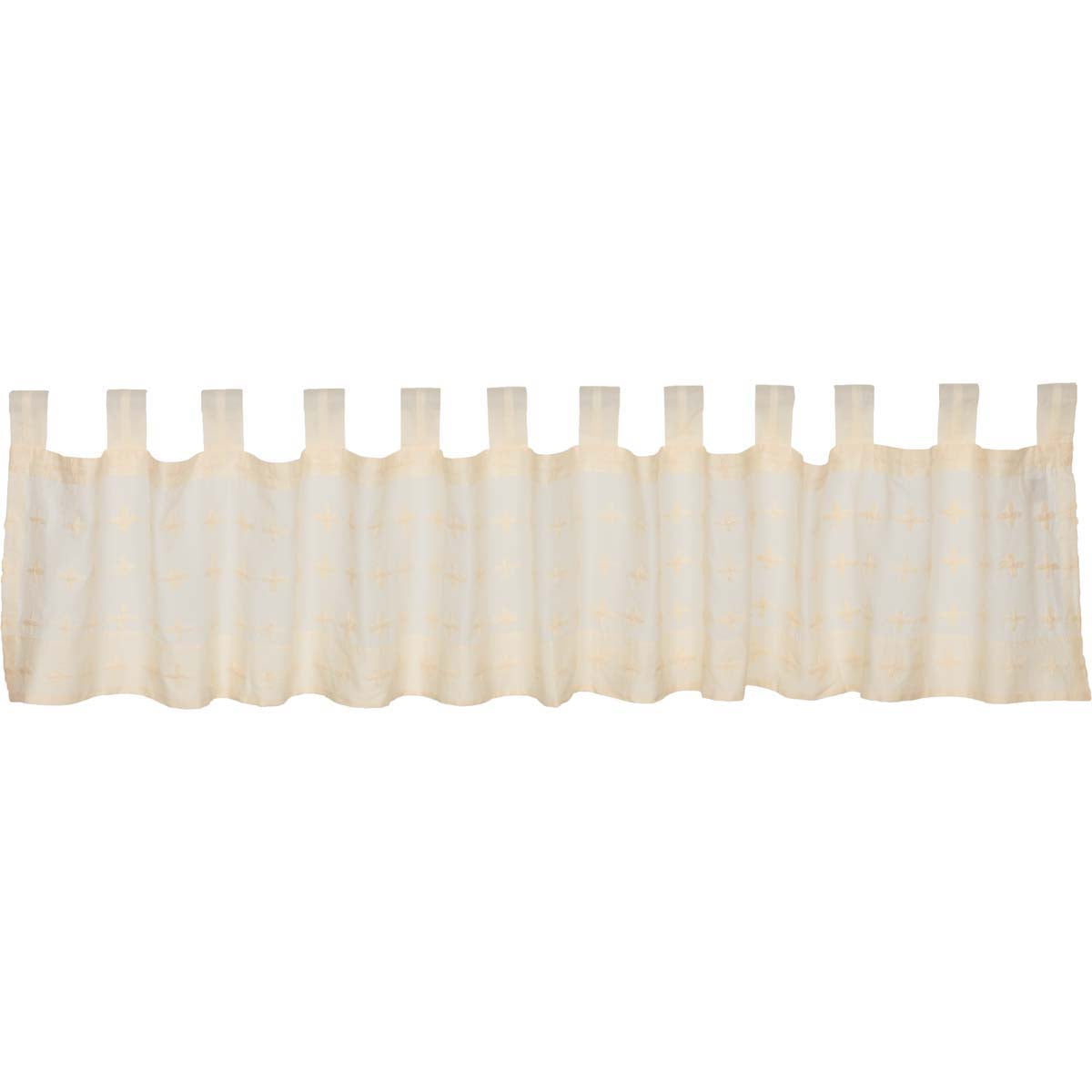 Willow Creme Tab Top Valance 16x90 - Woodrol