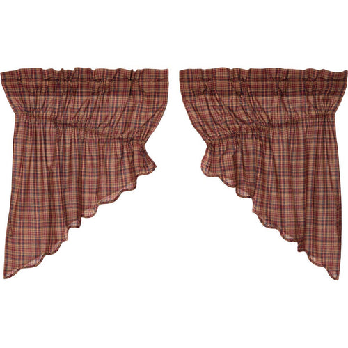 Parker Scalloped Prairie Swag Set of 2 36x36x18