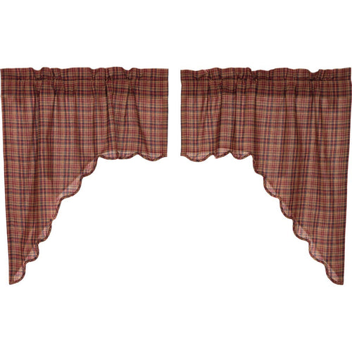 Parker Scalloped Swag Set of 2 36x36x16