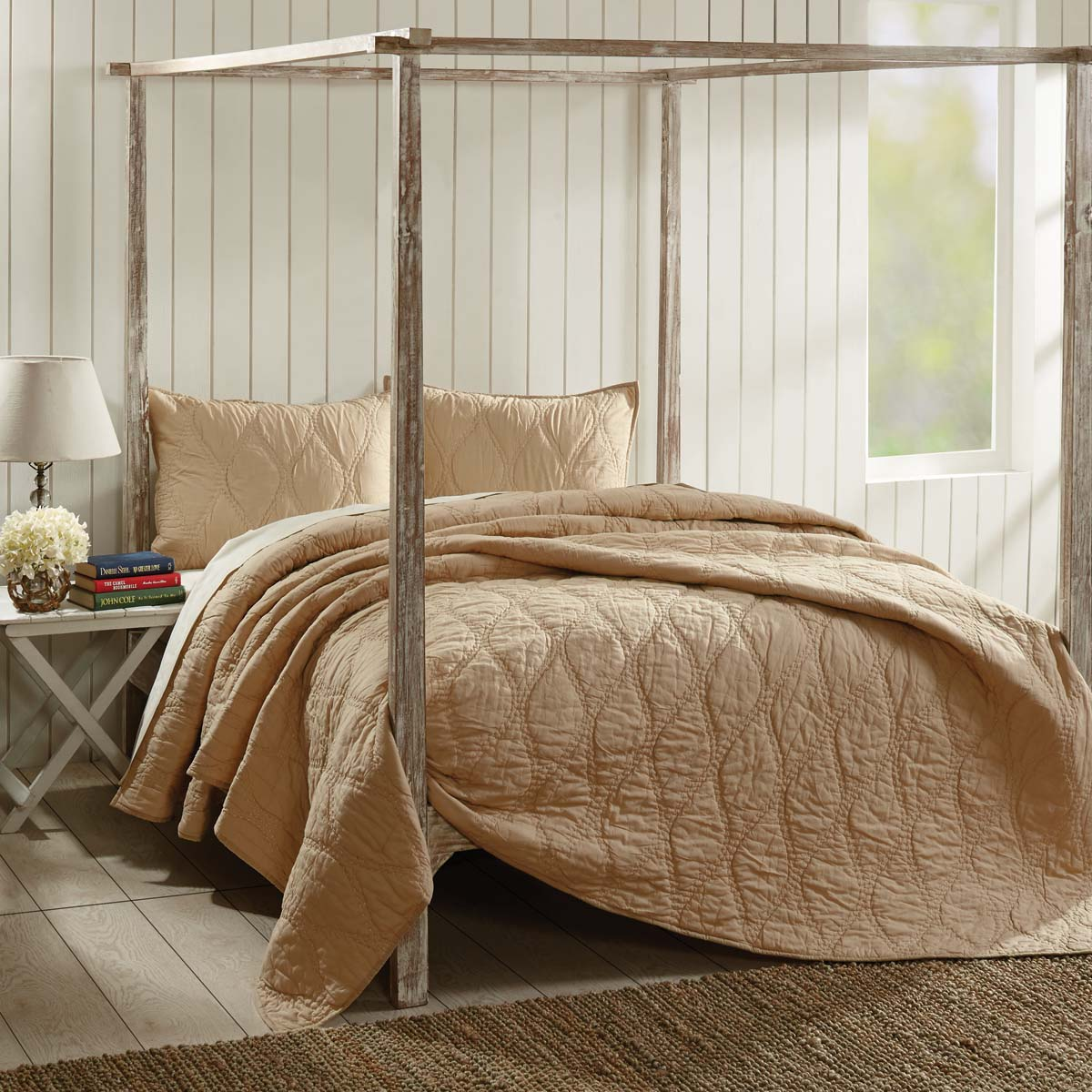 Harbour Sand Queen Quilt 90Wx90L - Woodrol