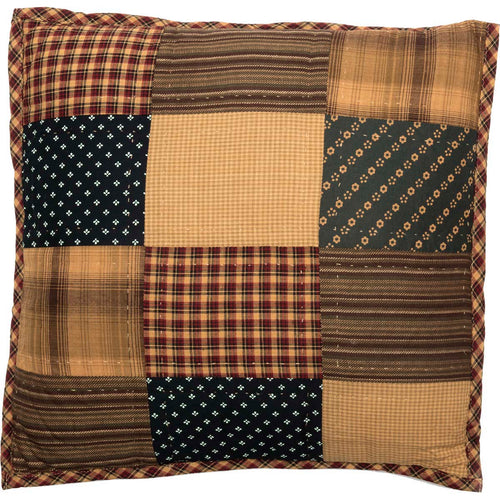 Patriotic Patch Quilted Pillow 16x16 - Woodrol