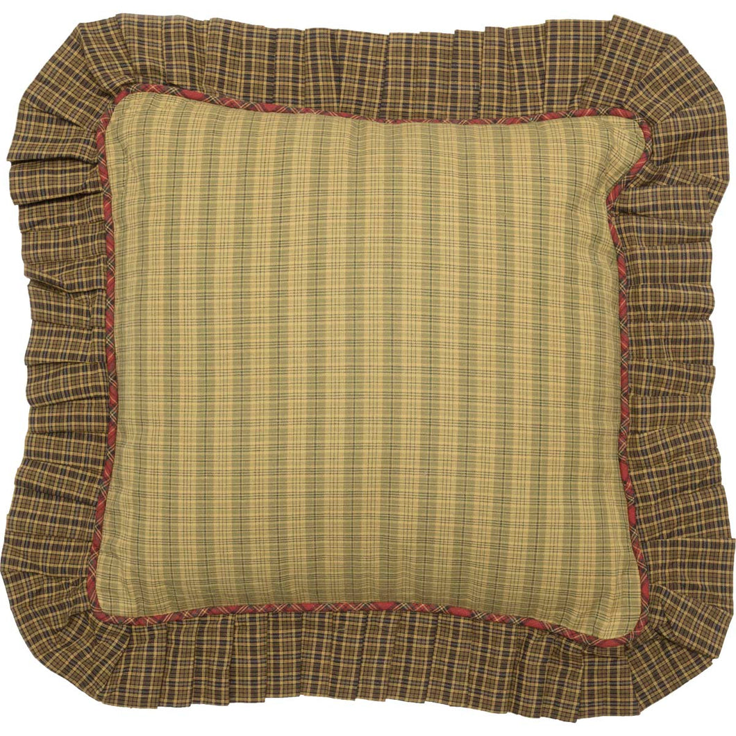 Tea Cabin Fabric Ruffled Pillow 16x16 - Woodrol