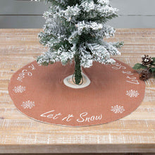 Let It Snow Mini Tree Skirt 21 - Woodrol