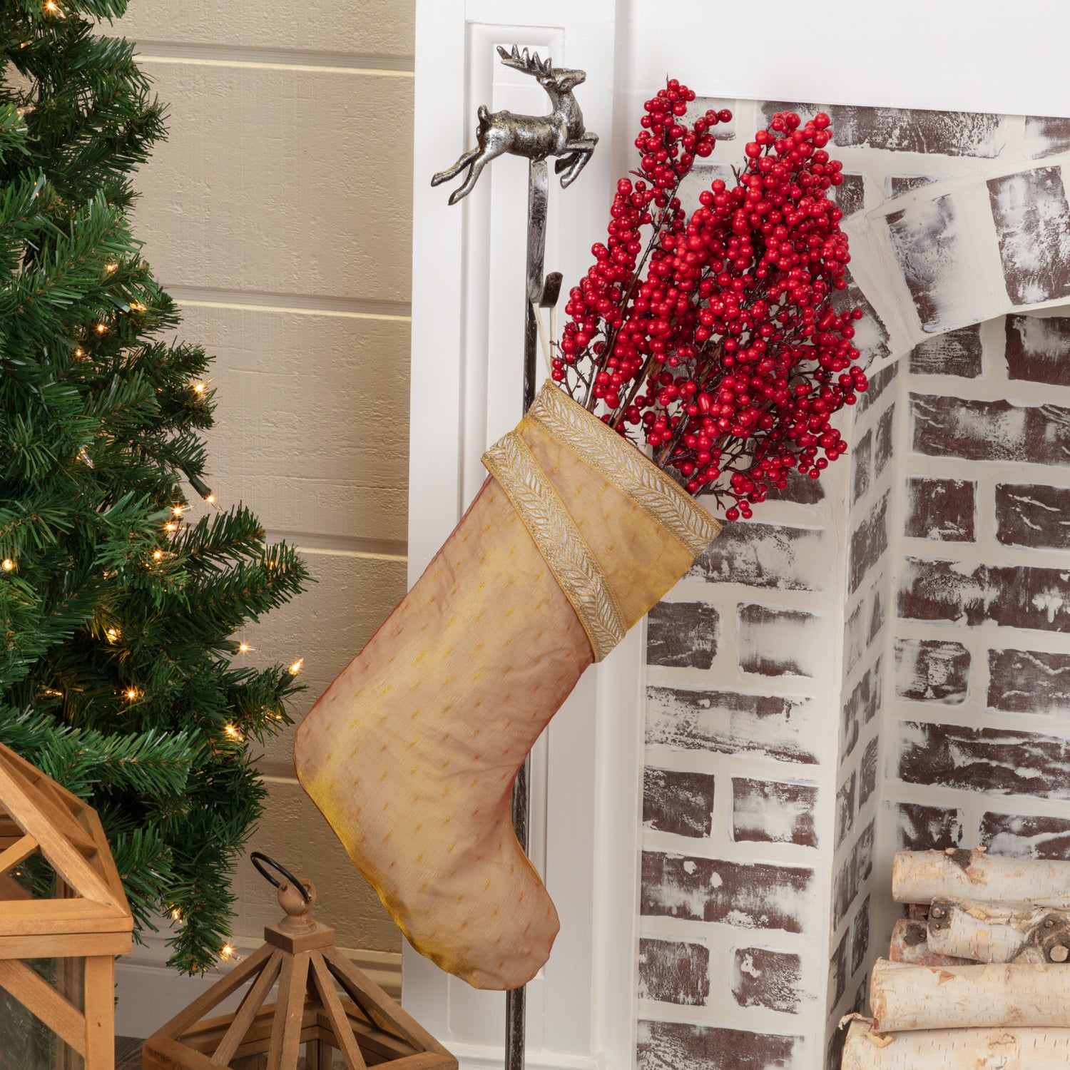 Tinsel Stocking 11x15 - Woodrol