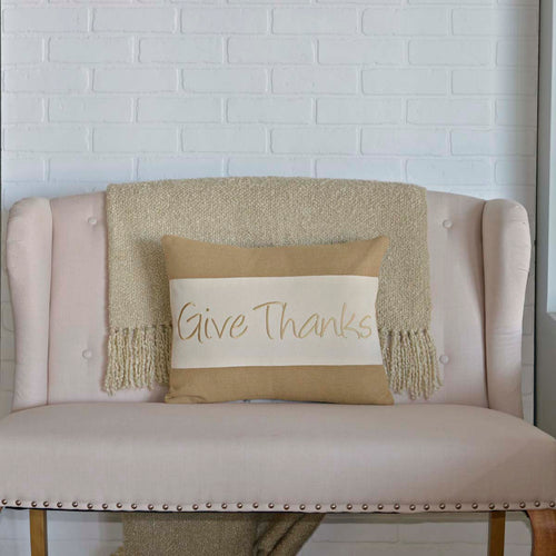 Give Thanks Pillow 14x18 - Woodrol
