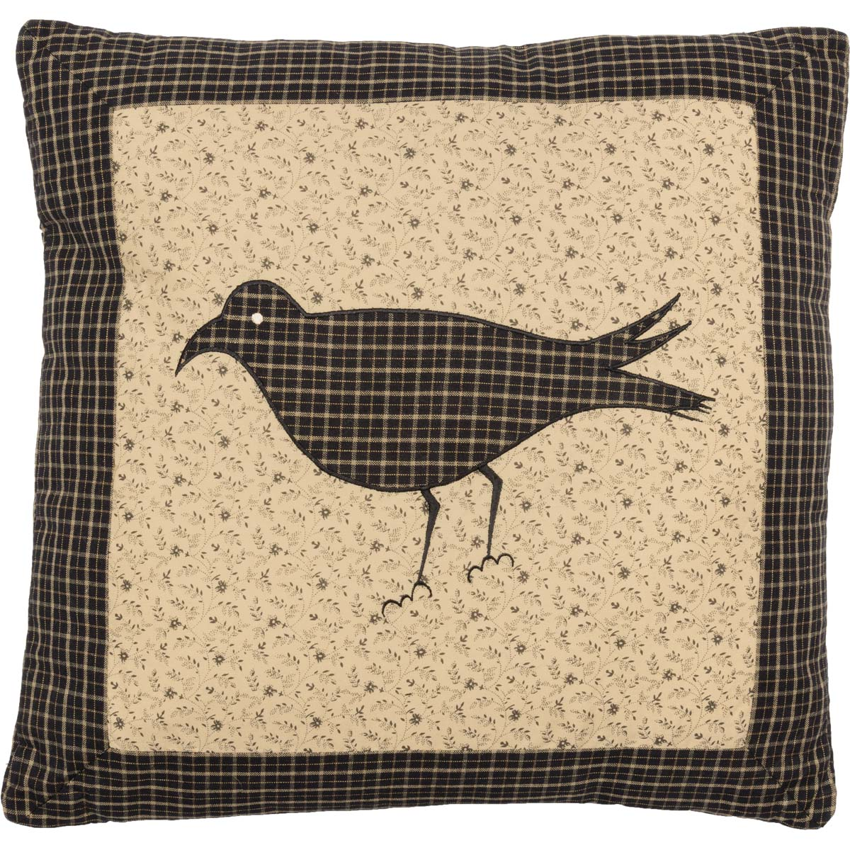 Kettle Grove Pillow Crow 16x16 - Woodrol