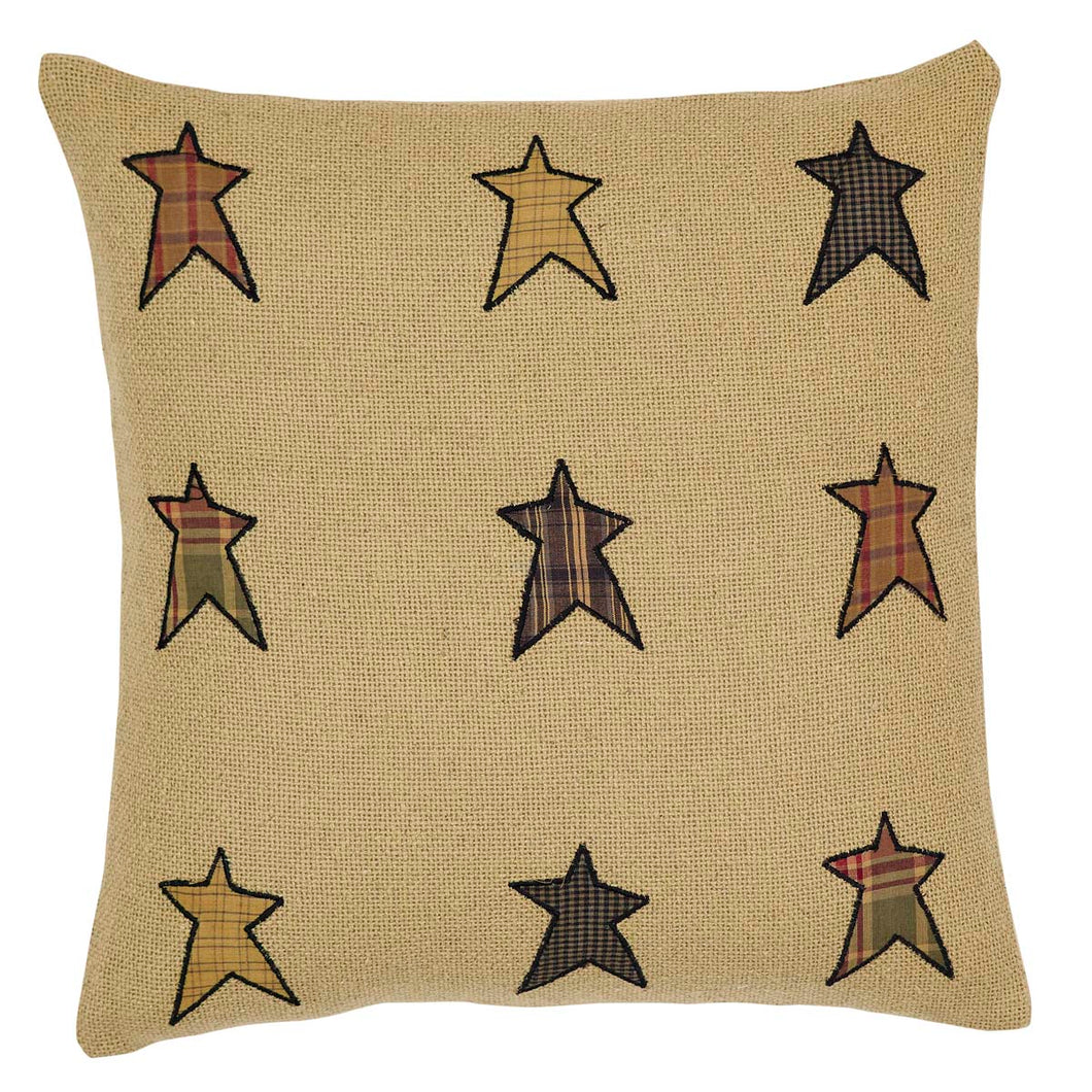 Stratton Applique Star Pillow 16x16 - Woodrol
