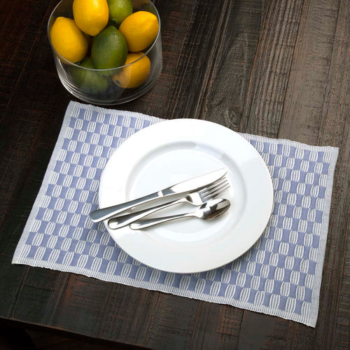 Chandler Ribbed Placemat Set of 6 12x18 - Woodrol
