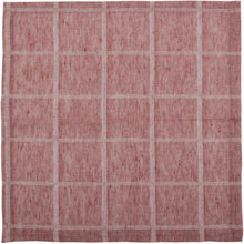 Julie Red Plaid Napkin Set of 6 18x18 - Woodrol