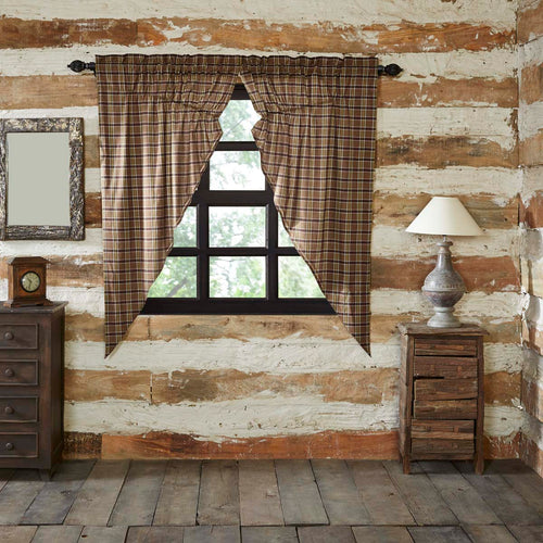 Wyatt Prairie Short Panel Curtain Set of 2 63x36x18 - Woodrol