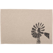 Sawyer Mill Charcoal Windmill Placemat Set of 6 12x18 - Woodrol