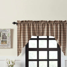 Sawyer Mill Charcoal Plaid Swag Curtain Set of 2 36x36x16 - Woodrol