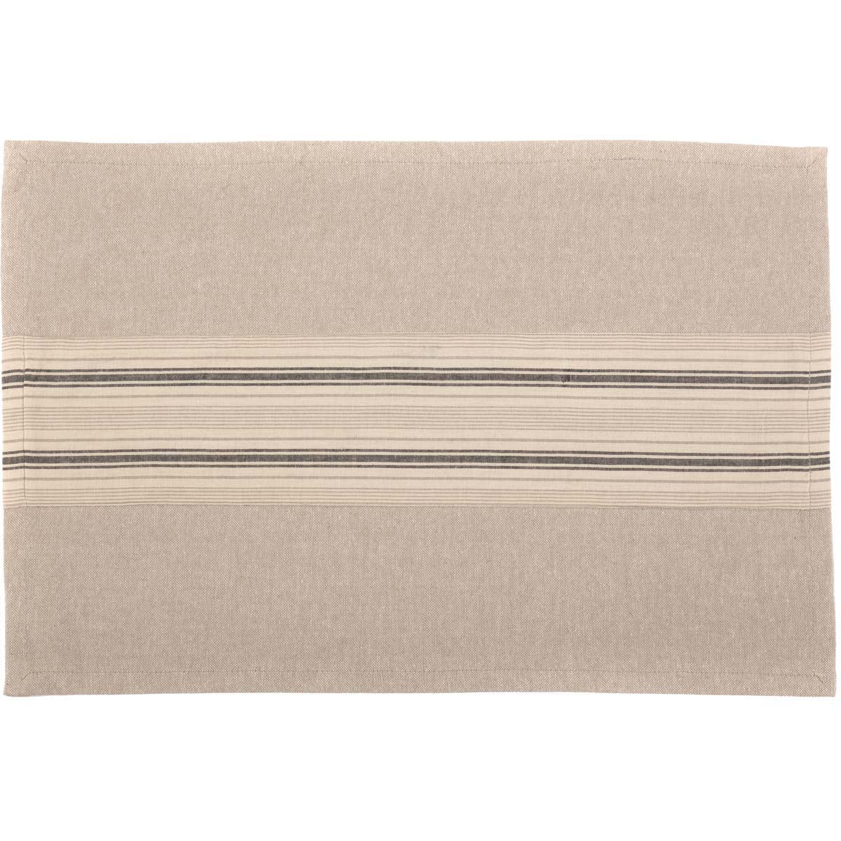 Sawyer Mill Charcoal Placemat Set of 6 12x18 - Woodrol