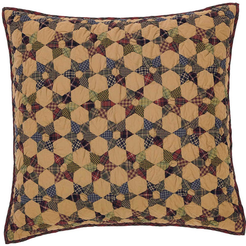 Tea Star Quilted Euro Sham 26x26 - Woodrol