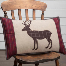 Wyatt Deer Applique Pillow 14x22 - Woodrol