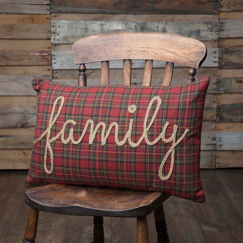Tea Star Family Pillow 14x22 - Woodrol