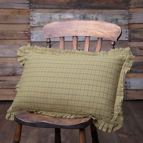 Tea Star Plaid Pillow 14x22 - Woodrol