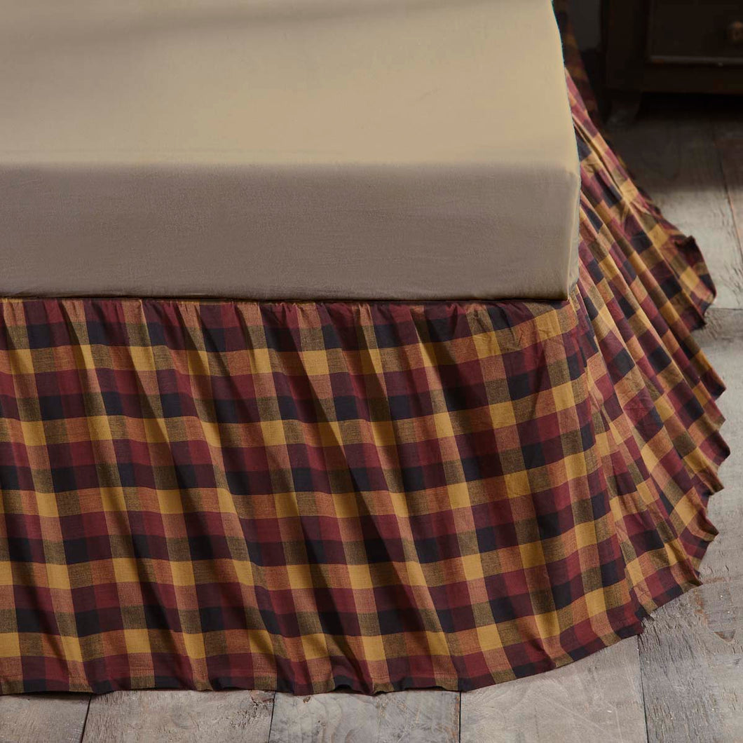 Heritage Farms Primitive Check King Bed Skirt 78x80x16 - Woodrol