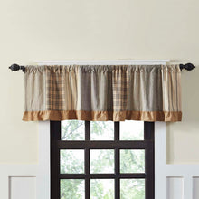 Sawyer Mill Charcoal Patchwork Valance Curtain 19x72 - Woodrol