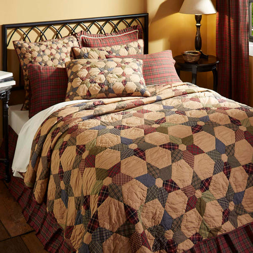 Tea Star Luxury King Quilt 120Wx105L - Woodrol